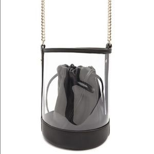 BNWT Forever21 Combo Clear Faux Leather Bucket Bag